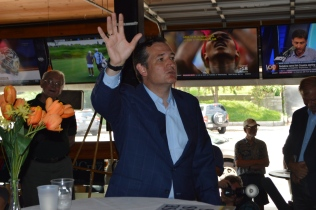 Ted Cruz speaks at the Draft Sports Bar and Grill in Concord, New Hampshire on Aug. 31, 2015.